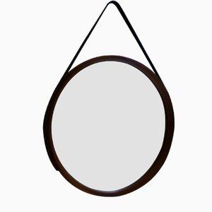 Miroir Rond Suspendu Mid-Century