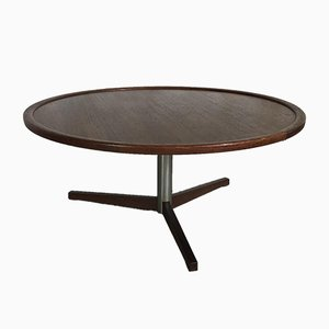 Mid-Century Modern Dutch Circular Teak Coffee Table by Martin Visser for 't Spectrum, 1960s