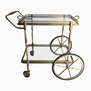 Chariot Vintage en Laiton, Italie, 1950s