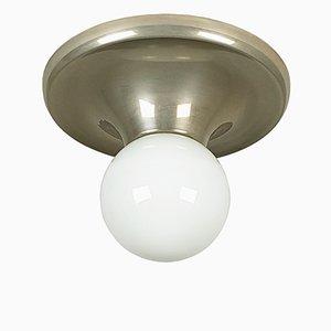 Lampes en Forme de Boule en Verre Opalin et Métal Nickelé par Achille Castiglioni pour Flos, 1960s, Set de 3