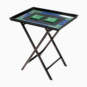 Faux-Malachite Tray Table from Christian Dior, 1970s