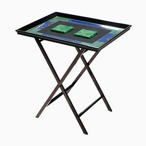 Tabletttisch aus künstlichem Malachit von Christian Dior, 1970er