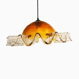 Handblown Glass Pendant Lamp from Mazzega, 1960s
