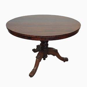 Tavolo rotondo antico in mogano