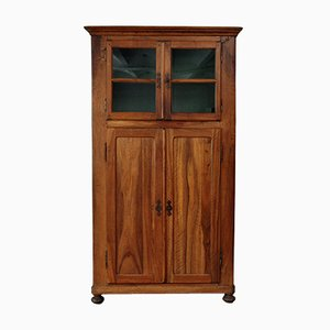 French Biedermeier Kitchen Cabinet with Showcase in Walnut, 1820s