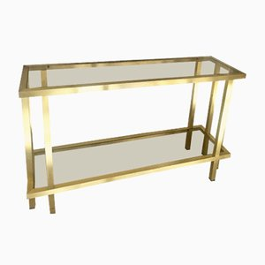 Brass Side Table by Romeo Rega, 1970s