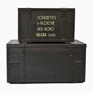Vintage Gilera 500 Transport Chests, 1930s, Set of 2