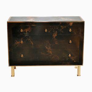 Lacquered Brass Dresser by Maison Jansen, 1970s