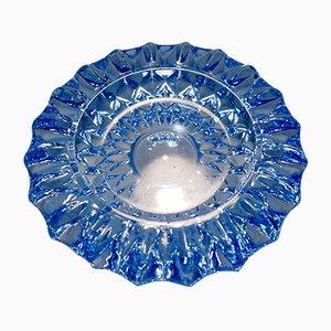 Posacenere in cristallo blu chiaro, anni '60