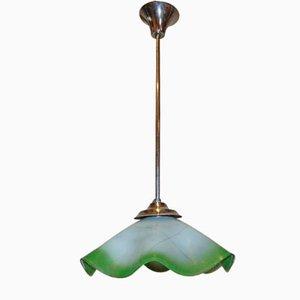 Vernickelte Deckenlampe, 1960er