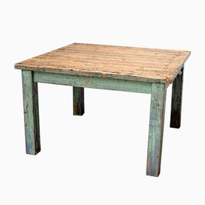 Vintage Industrial Square Table
