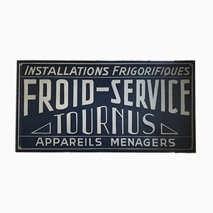 French Wood Tournus Sign, 1950s