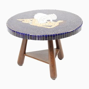 Vintage Mosaic Side Table, 1940s