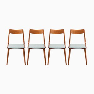 Model 370 Teak Boomerang Chairs by Alfred Christensen for Slagelse Møbelværk, Set of 4