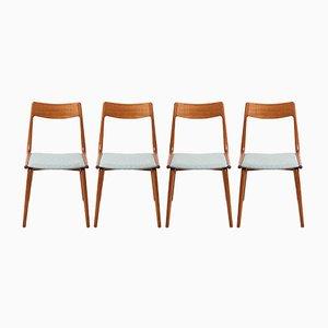 Modell 370 Boomerang Chairs aus Teak von Alfred Christensen für Slagelse Møbelværk, 4er Set
