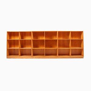 Librerie vintage in pino di Mogens Koch per Rud. Rasmussen, set di 3
