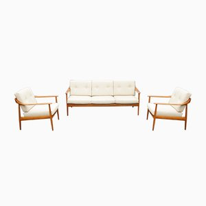 Mid-Century Antimott Living Room Set from Knoll, 1950s