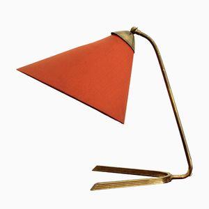 Lámpara de mesa grande de latón, años 60