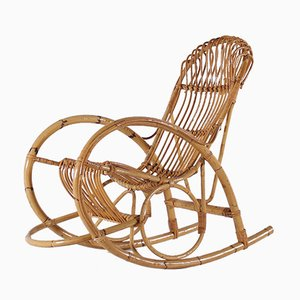 Rocking Chair en Bambou, Italie, 1960s