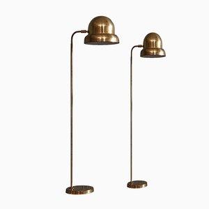 Lámparas de pie G-075 de latón de Bergboms, años 60. Juego de 2