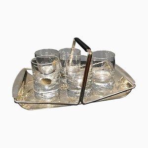 Vassoio in cristallo e placcato in argento di Rosenthal, anni '60