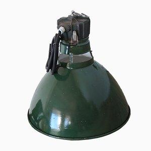 Lámpara de techo industrial vintage en verde de Sammode