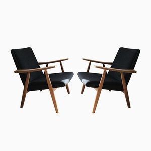 GE-260 Lounge Chairs by Hans J. Wegner, 1960s, Set of 2