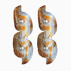 Vintage Murano Glass Sconces from Mazzega, Set of 2