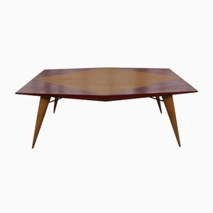 Mid-Century Wooden Table by Carlo de Carli for Tecno, 1950s