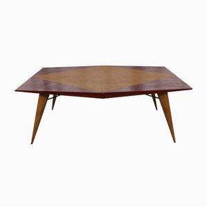 Tavolo Mid-Century in legno di Carlo De Carli per Tecno, anni '50