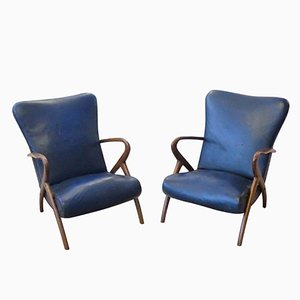 Italian Armchairs by Guglielmo Ulrich, 1950s, Set of 2