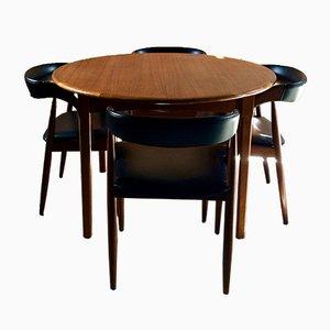 Runder Esstisch & 4 Esszimmerstühle von Kai Kristiansen, 1970er