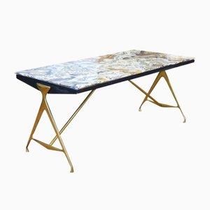 Table d'Appoint en Marbre par Max Ingrand pour Fontana Arte, 1955