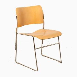 Modell 40/4 Stuhl mit Buchenfurnier von David Rowland für Howe, 1960er
