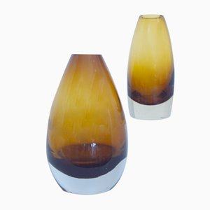 Modernist Bullet Vases by Tamara Aladin for Riihimaki, Set of 2