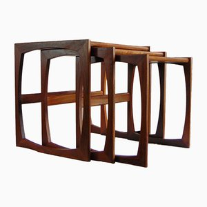 Quadrille Teak Nesting Tables by R. Bennett from G-Plan, 1970s