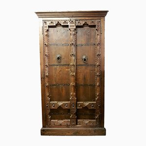 Large Antique Indian Ironwork Storage Cupboard
