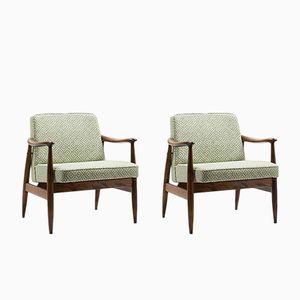 Type 300-203 GFM-87 Lounge Chairs by Juliusz Kędziorek for Gościcińskie Fabryki Mebli, 1970s, Set of 2