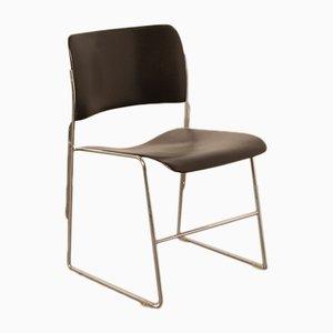 Schwarzer Modell 40/4 Stuhl von David Rowland für GF, 1960er