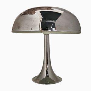 Plastische Mushroom Lampe aus Chrom von Philips, 1970er
