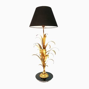 Regency Style Gilt Palm Leaf Lamp, 1970s