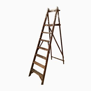 Vintage Wooden Folding Ladder