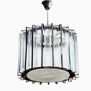 Lámpara de araña vintage de cristal de Murano, años 60
