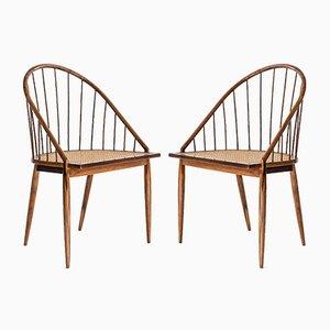 Brasilianische Mid-Century Cadeira Curva Stühle von Joaquim Tenreiro für Langenbach & Tenreiro, 1956, 2er Set