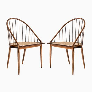 Mid-Century Brazilian Cadeira Curva Chairs by Joaquim Tenreiro for Langenbach & Tenreiro, 1956, Set of 2