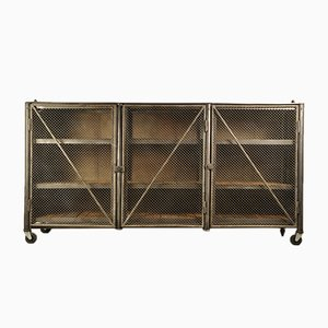 Vintage Industrial Storage Unit in Steel, 1950s
