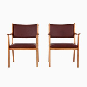 PJ 412 Armchairs by Ole Wanscher for Poul Jeppesens Møbelfabrik, Set of 2