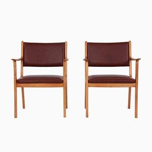 PJ 412 Armchairs by Ole Wanscher for Poul Jeppesens Møbelfabrik, Set of 2