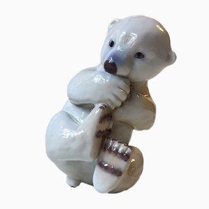 Orso polare in porcellana di Merete Agergaard per Bing & Grøndahl, anni '70