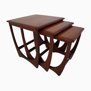 Tavolini ad incastro modello Astro Mid-Century in afrormosia di Victor Wilkins per G-Plan, anni '60